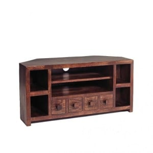 Toko Dark Mango Furniture Corner TV Unit
