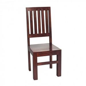 CLEARANCE Toko Dark Mango Furniture Slat Back Dining Chair