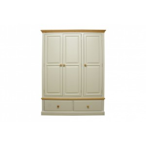 Intone Painted Furniture 2 Drawer Triple Wardrobe
