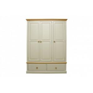 Intone Painted Furniture 2 Drawer Triple Wardrobe