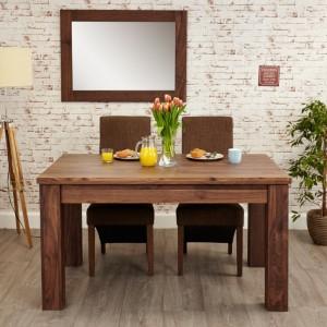 Mayan Walnut Furniture Extending Dining Table