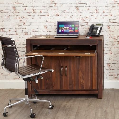 Mayan Walnut Furniture Hidden Home Office