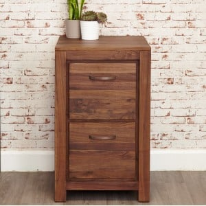 Mayan Walnut Furniture Two Drawer Filing Cabinet