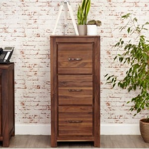 Mayan Walnut Furniture 3 Drawer Filing Cabinet