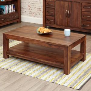 Mayan Walnut Furniture Open Coffee Table