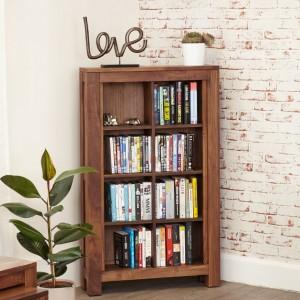 Mayan Walnut Furniture Open DVD CD Storage Cabinet