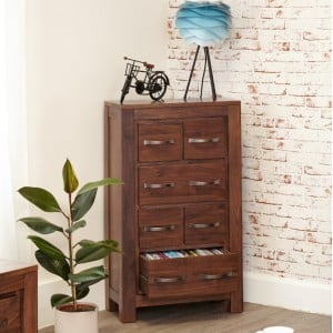 Mayan Walnut Furniture DVD CD Storage Chest