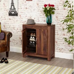 Mayan Walnut Furniture Shoe Cupboard Rack