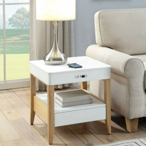Jual Smart Technology Furniture Smart Lamp and Bedside Table with Charger and Speakers