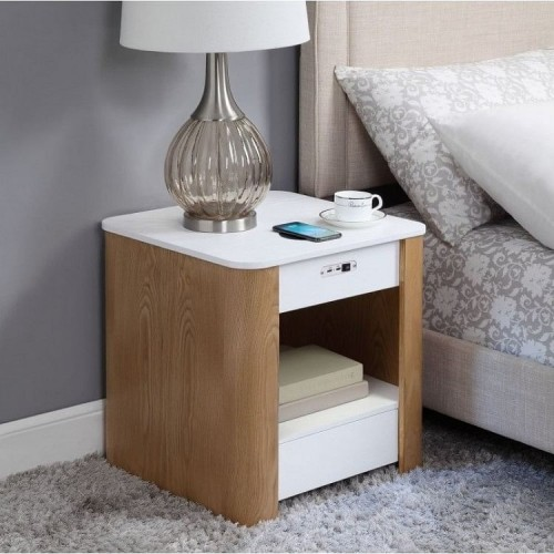 Jual Smart Technology Furniture Enclosed Charging Lamp Table