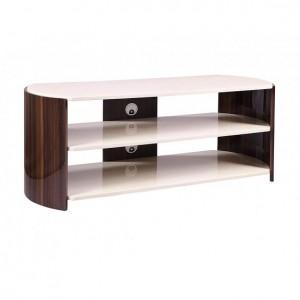 Jual Milan Walnut Furniture High Gloss Cream Coloured TV Stand