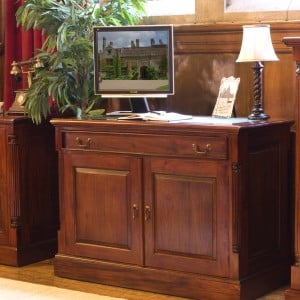 La Roque Mahogany Furniture Hidden Home Office Computer Desk