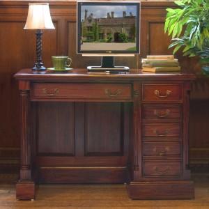 La Roque Mahogany Furniture Single Pedestal Computer Desk