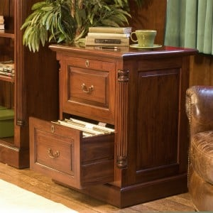 La Roque Mahogany Furniture Two Drawer Filing Cabinet
