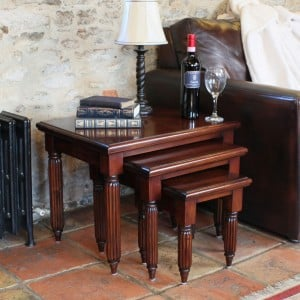 La Roque Mahogany Furniture Nest of Coffee Tables
