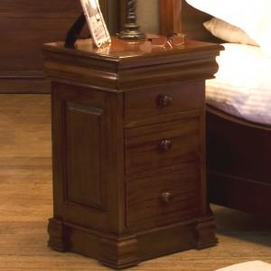 La Roque Mahogany Furniture 3 Drawer Lit Bateau Bedside Table