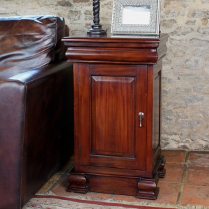 La Roque Mahogany Furniture Lamp Table Pot Cupboard