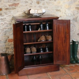 La Roque Mahogany Furniture Shoe Cupboard
