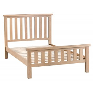 Langham Lime Washed Oak Furniture 5ft Kingsize Bed