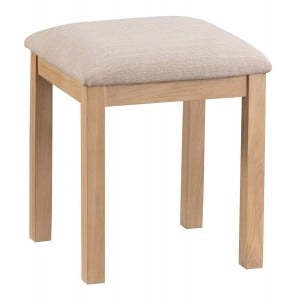 Langham Lime Washed Oak Furniture Dressing Table Stool