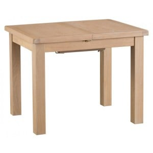 Langham Lime Washed Oak Furniture 1m Butterfly Extending Table