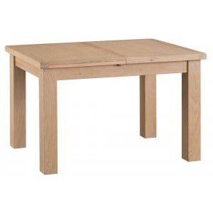 Langham Lime Washed Oak Furniture 1.25m Butterfly Extending Table
