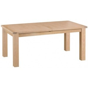Langham Lime Washed Oak Furniture 1.7m Butterfly Extending Table