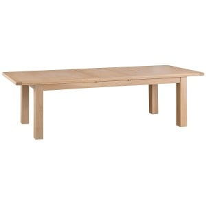 Langham Lime Washed Oak Furniture 2.4m Butterfly Extending Table