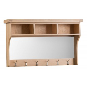 Langham Lime Washed Oak Furniture Shelf Unit