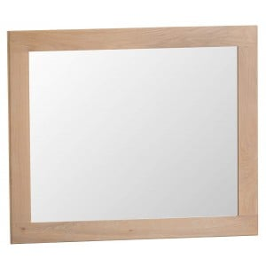 Langham Lime Washed Oak Furniture Large Wall Mirror