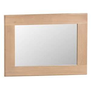 Langham Lime Washed Oak Furniture Small Wall Mirror