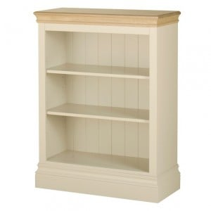 Lundy Painted Oak Furniture 3ft Bookcase