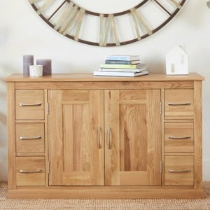 Mobel Oak Furniture Six Drawer Sideboard
