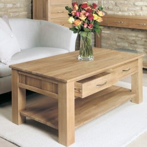Mobel Oak Furniture 4 Drawer Coffee Table