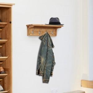 Mobel Oak Furniture Wall Mounted Coat Rack