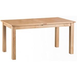 New Sherwood Oak Furniture 1.6m Butterfly Extending Table