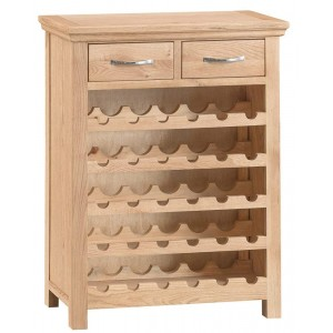 New Sherwood Oak Furniture Wine Cabinet
