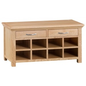 New Sherwood Oak Furniture Hall Bench