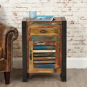 New Urban Chic Furniture 1 Door 1 Drawer Lamp Table