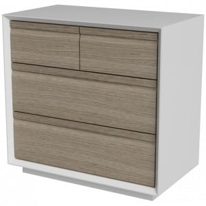 Corton Light Grey Painted Furniture 2 Over 2 Drawer Chest