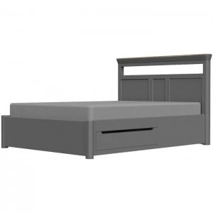Pebble Slate Grey Painted Furniture King Size 5ft Bed