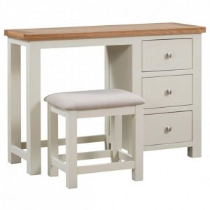 Dorset Ivory Painted Furniture Dressing Table and Stool Set