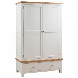 Dorset Ivory Painted Furniture Gents Double Wardrobe