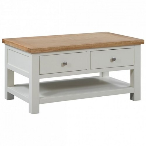 Dorset Ivory Painted Furniture 2 Drawer Coffee Table