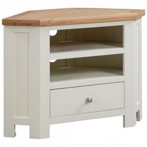 Dorset Ivory Painted Furniture Corner TV Unit