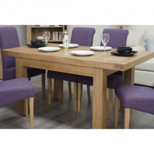 Bordeaux Solid Oak Furniture Small Extending Dining Table & 4 Chairs