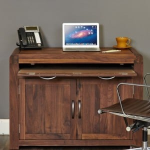 Shiro Walnut Furniture Hidden Home Office Computer Desk