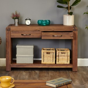 Shiro Walnut Furniture Console Table