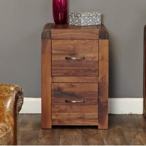 Shiro Walnut Furniture Two Drawer Filing Cabinet
