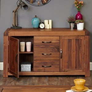 Shiro Walnut Furniture Large Sideboard
